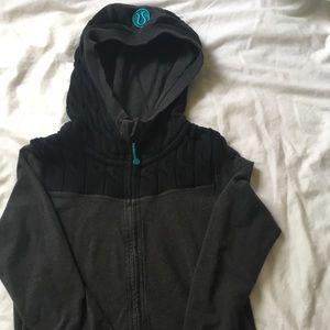 Black and grey Lululemon jacket